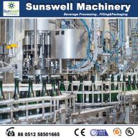 Quality 1200 Capacity Beer Bottling Machine Automatically Transferred By A Star Wheel for sale
