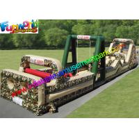 China PVC Tarpaulin Inflatables Obstacle Course Military Boot Camp Challenge on sale