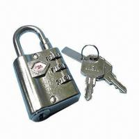 Quality Combination Padlock with Flat Key Barrel and Master Key System for sale