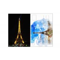 Quality 11x16cm Paris Eiffel Tower Day - Night 3D Lenticular Postcard With CMYK Printing for sale