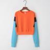 Buy cheap Sports Stitching Fleece Anti Pilling Women Crop Hoodie Sweatshirt from wholesalers