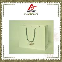 Quality Recycled Luxury White Card Paper Bags For Gift , Printed Hot Stamping Logo for sale