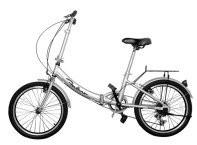 Quality Silver Electric Folding Bike Lightweight Adjustable Two Wheel Electric Bike for sale