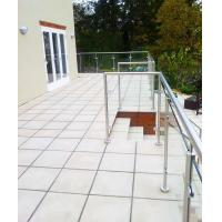 Quality Terrace Glass Railing/ Glass Balustrade with Stainless Steel Post for sale