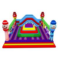 Quality Square Shape Inflatable Sports Games Monsters Themed Soft Air Mountain With Big Slide Inside for sale