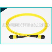 Buy 3.0mm Low Insertion 24x Lanes MTP Female Fiber Optic OS2 Singlemode Trunk Yellow at wholesale prices