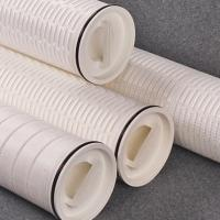 China High Flow Pleated Water Filter Cartridges FLHF60 Series High Dirt Holding Capacity on sale