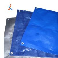 China Blue silver PE tarpaulin with polyethylene insulated plastic fabric coloured tarp roll for truck cover on sale