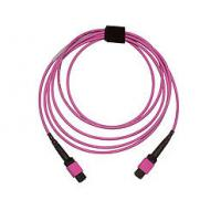 Multi Colored Multimode MPO Fiber Optic Patch Cord Jumper With LSZH Jacket