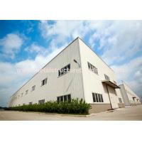 Anti Rust Prefabricated Steel Warehouse Light Structure Wind Resistance for sale