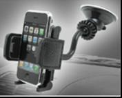 Quality Anti - Temperature Black Car Mobile Phone Holders With Compact Design for sale