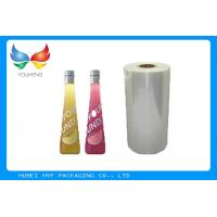 Quality 40mic Transparent 53% Blown Shrink PVC Labels Film For Beverage Sleeve Labels for sale