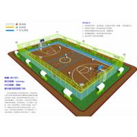 Quality Volleyball Courts EPDM Rubber Flooring , Environment Friendly Soft Rubber Flooring for sale