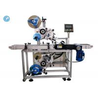 Quality Two Heads Automatic Labeling Machine , Top And Bottom Flat Surface Label Applicator  for sale