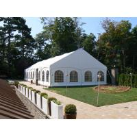 China Rain Proof Garden Marquee Tent Strong Cold Resistance With White Fabric Cover on sale