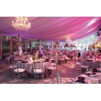 15m Span New Design Luxury Waterproof Pinnacle Glass Wall Tents For Party And Wedding for sale