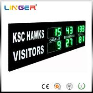 Quality Green Digit AFL Electronic Cricket Scoreboard Portable Football Scoreboard for sale