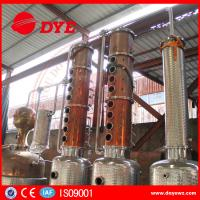 China 3000L Steam Copper Distillation Column For Whiskey Brandy Rum Gin on sale