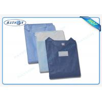 Quality 100% PP , SMS Non Woven Medical Fabric Sterile Disposable Surgical Gown Sauna Dress for sale