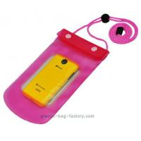 Quality 0.3mm Non-toxic Vinyl Water-Tight Phone Pouch for Smart Phone with Sanp Buttons for sale