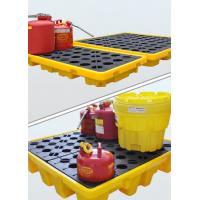 China Nestable Design Plastic Oil Spill Containment Pallets Thick Side Border And Central Load - Bearing Structure on sale
