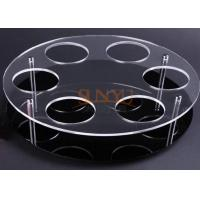 Quality Black Acrylic Jewelry Stand Jewelry Display Rack With Laser Cutting for sale