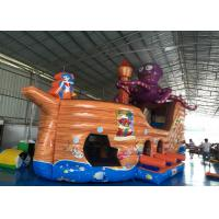 Quality Attractive Pirate Ship Slide Inflatable , Kindergarten Baby Games Blow Up Pirate Ship for sale