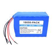 China Lithium-ion battery pack, 25.9V/10Ah, soft pack, 18650 cell UL 1642 CE comply on sale