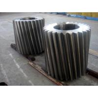 Quality ASTM A291 Class 4 ASTM A290 Class D Forged Forging Steel Bull Gear Pinion Bull Gear Rim For Emergency Gate Machinery for sale