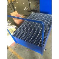 China Galvanized Steel Pallet Spill Containment Drum Platform For Multi Drums Storing trolley on sale