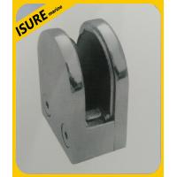 Quality Stainless Steel Flat Back Glass Bracket Clamps Clips for Handrails for sale