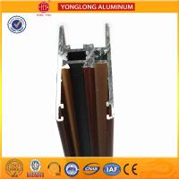 Quality Flat Open Wood Finish Aluminium Profiles 6005 / 6063 For Window for sale