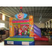 Quality Funny Painting Kids Inflatable Bounce House Commercial Inflatable Clown Themed Combo Bouncer for sale