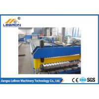 China New blue color corrugated roof sheet roll forming machine made in China Automatic PLC Control on sale