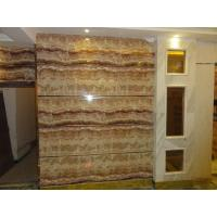 Quality UV coating mable textured waterproof bathroom wall covering panels wainscot panels Sliding for sale