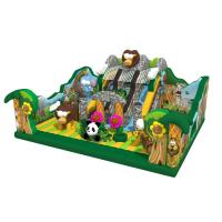 Quality Safari Amusement Park Inflatable Fun City For Children Forest Animals Themed for sale