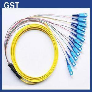 Quality Fiber Optic Pigtail -SC/PC- 12 Cores Fanout for sale