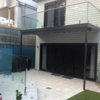 Buy cheap Balcony Tempered Glass Railing with stainless steel top handrail from wholesalers