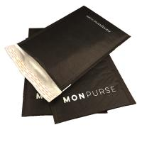 Quality Black Self Sealing Kraft Bubble Mailer Padded Envelope With Logo for sale