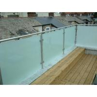 Quality Hot sale frosted glass panel glass balustrade with inox baluster post design for sale