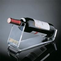 Quality Crystal Acrylic Wine Food Display Trays Retail Shop Custom With Handle for sale