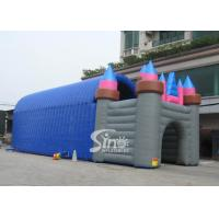 China 20x7 mts grand castle inflatable tunnel tent for outdoor parties or activities on sale