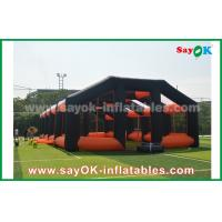 Quality 20m Orange And Black Oxford Cloth Inflatable Air Tent House For Outdoor Event for sale
