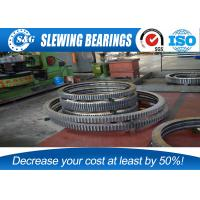 Quality Single Row Industrial Turntable Bearings For Port / Marine Machinery for sale