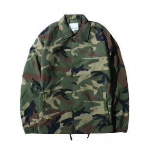 Quality Custom Made Ma1 Bomber Jacket , Autumn Nylon Camo Coach Jacket Printed for sale