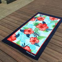 Buy cheap Hibiscus Flower Promotional Beach Towels Rectangular With Multi - Function from wholesalers