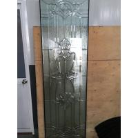 Quality stained  door glass with  zinc /patina caming for sale