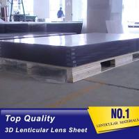 Quality 2021 wholesale 120X240CM, 4MM thick PS material Plastic Lenticular Sheet withhigh transparency for injekt printer and UV for sale