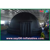 Quality Black Igloo Giant Inflatable Planetarium Dome Architecture For School Teaching for sale