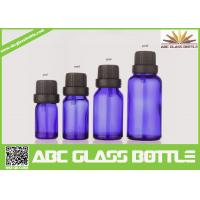 Quality Factory Sale 5ml 10ml 15ml 30ml Blue Glass Bottle With Pilfer Proof Cap for sale